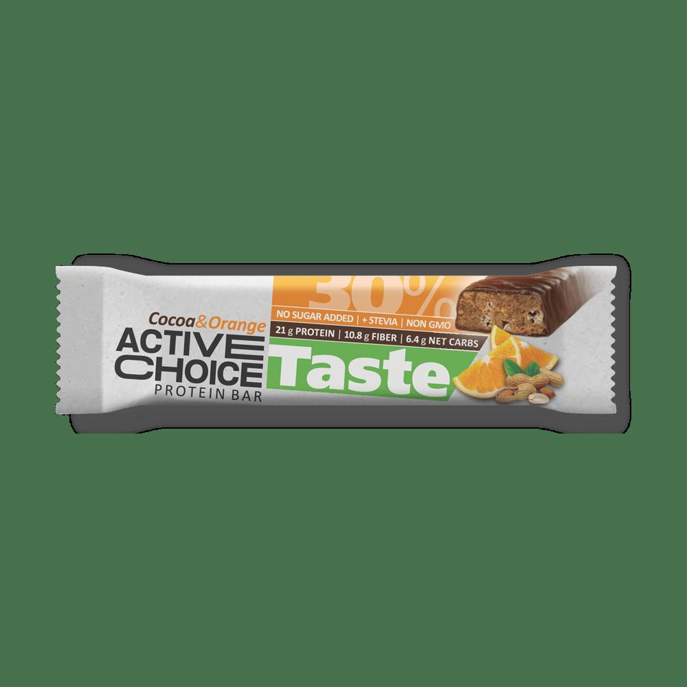 Кутия Active Choice протеинов бар - Cocoa & Orange
