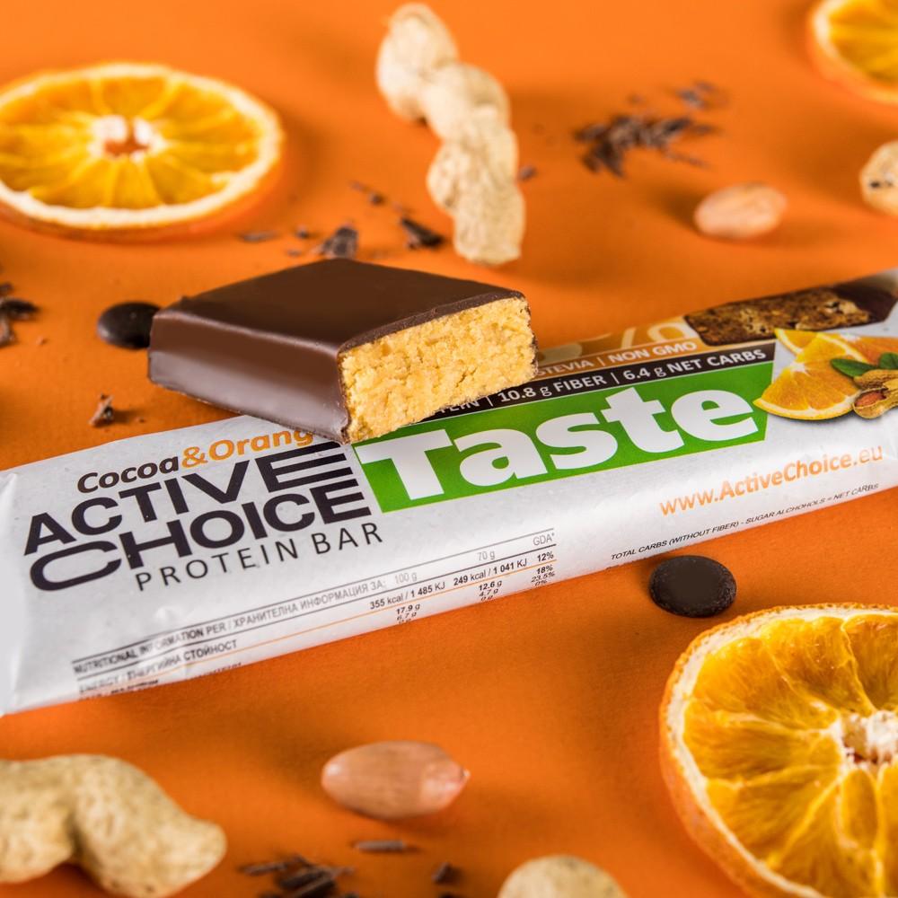 Active Choice протеинов бар - Cocoa Orange