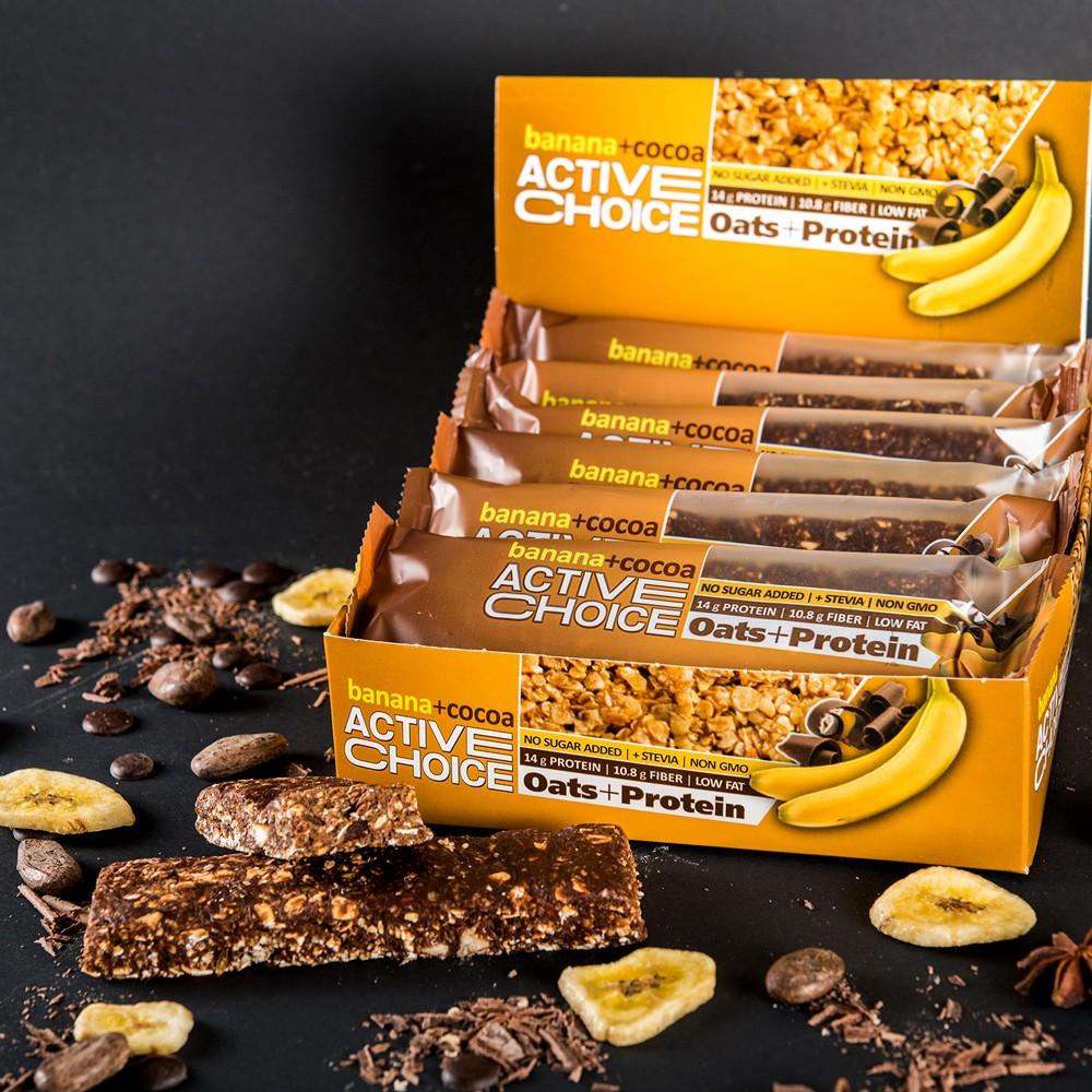 Кутия енергиен бар - Banana+Cocoa