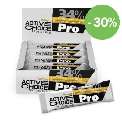 Кутия Active Choice протеинов бар - Nougat