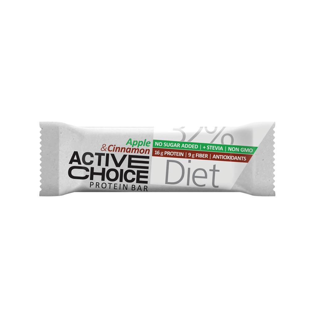 Кутия Active Choice протеинов бар - Аpple & Cinnamon