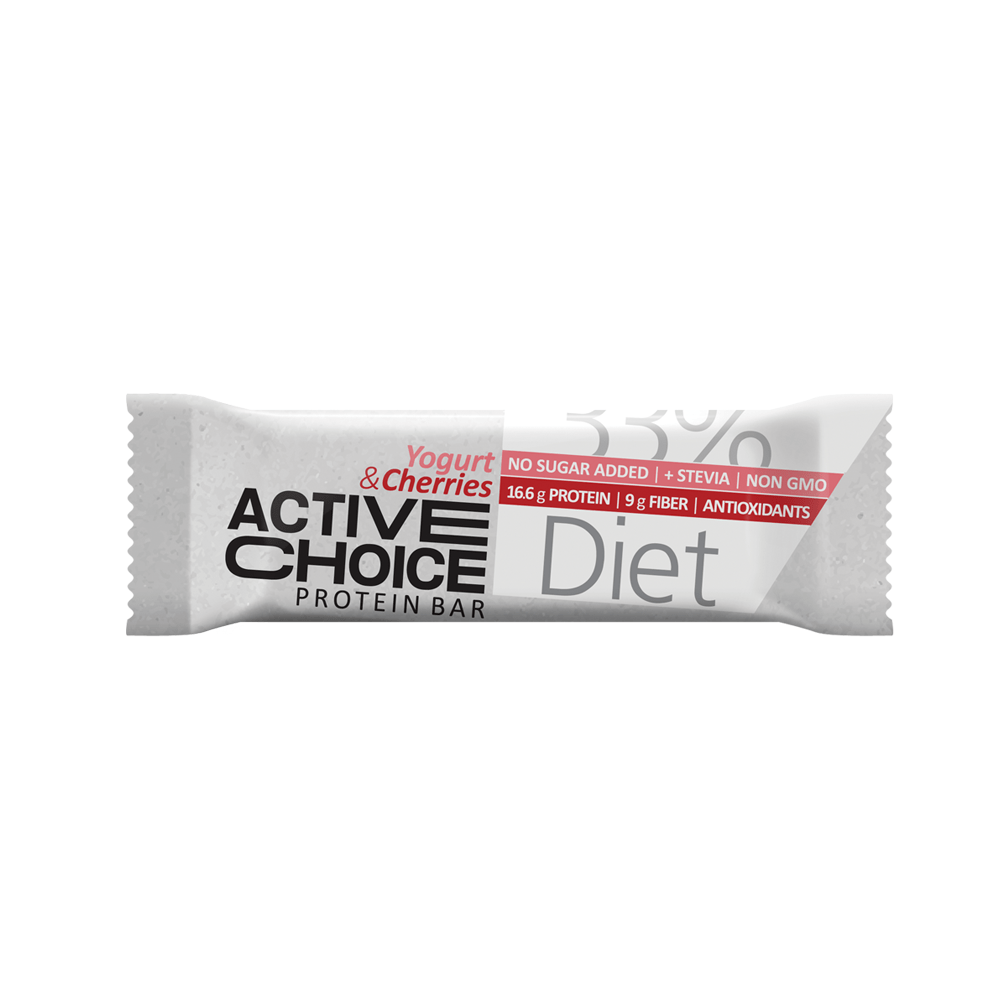 Кутия Active Choice протеинов бар - Yogurt & Cherries