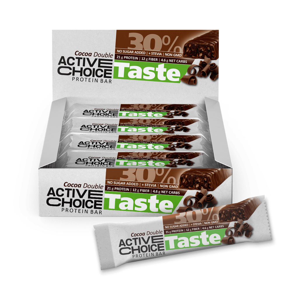 Кутия Active Choice протеинов бар - Cocoa Double