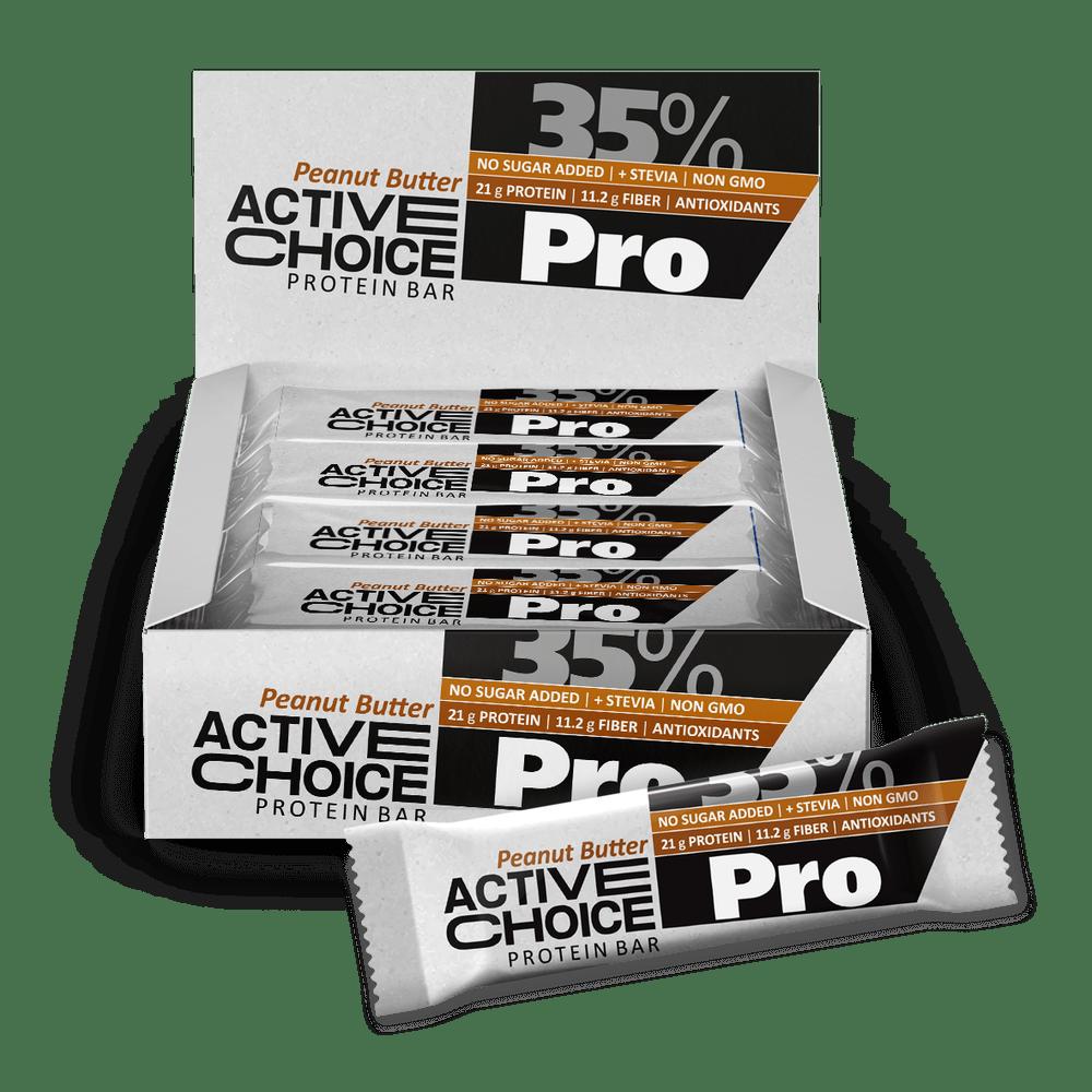 Кутия Active Choice протеинов бар - Peanut butter