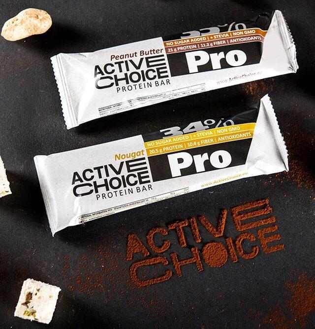 Протеинови барове Active Choice серия PRO