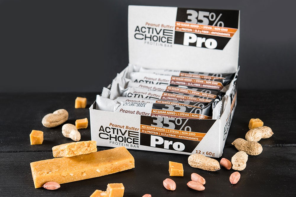 Протеинови барове Active Choice Peanut butter