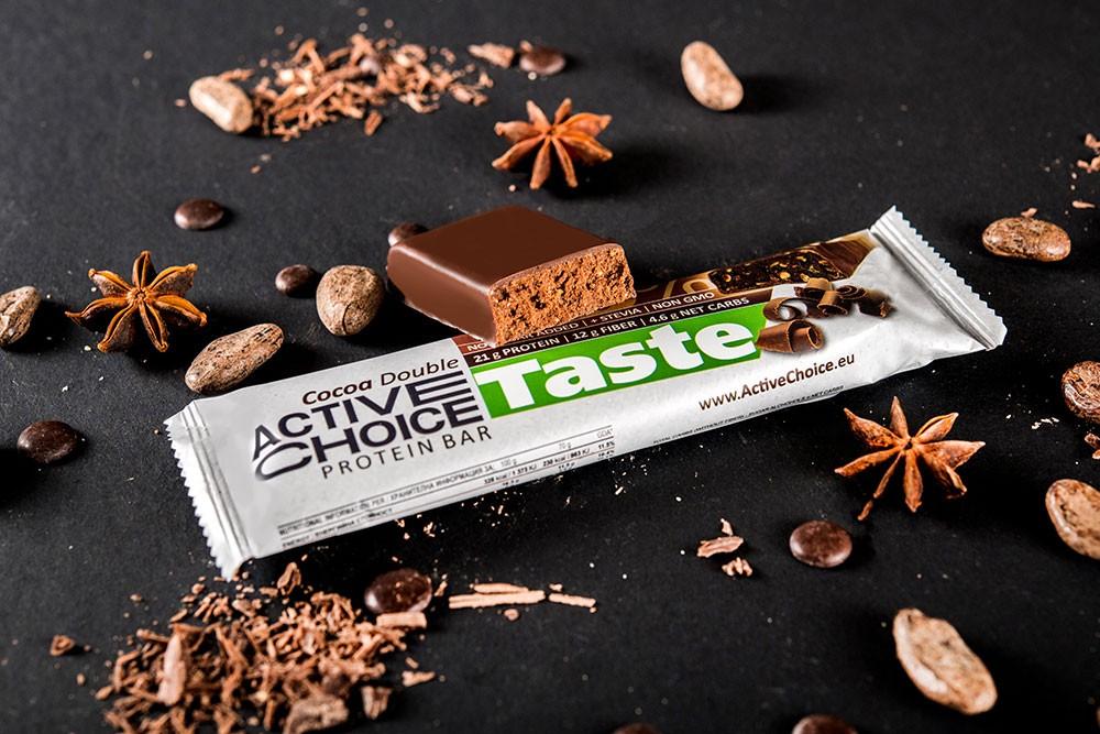 Протеинов бар Active Choice Cocoa Double - серия Taste