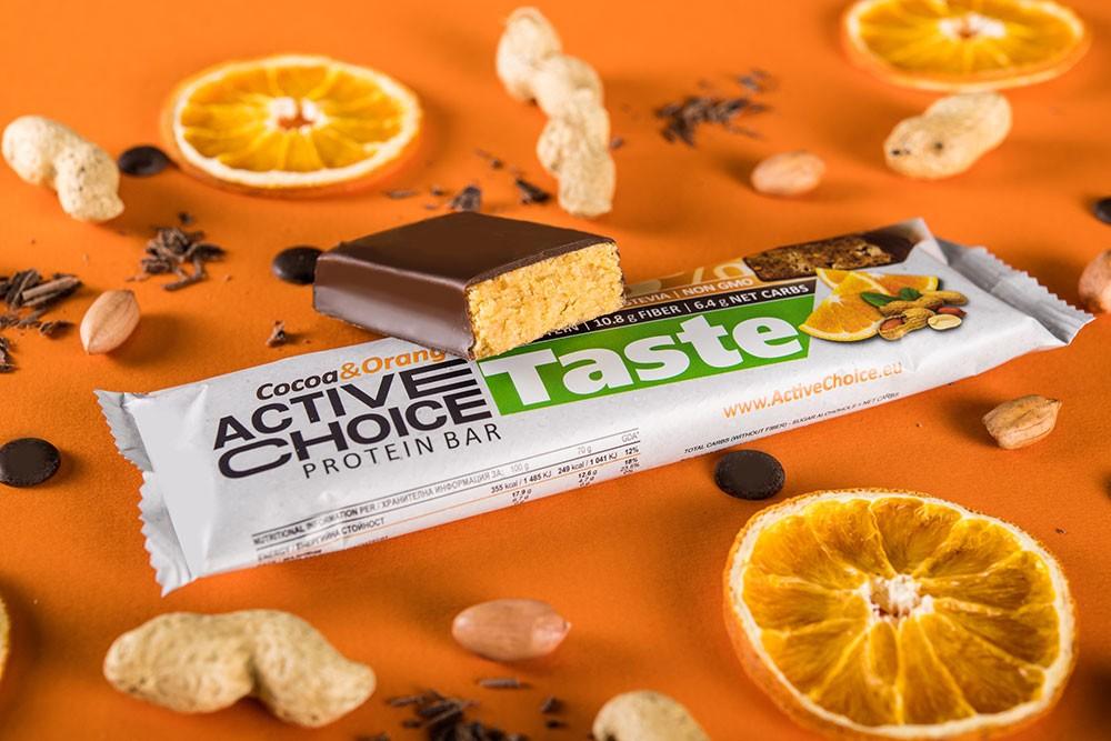 Протеинов бар Active Choice Cocoa & Orange - серия Taste