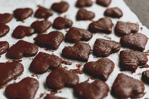 Протеинов шоколад 19 - шоколадови сладки във формата на сърчица